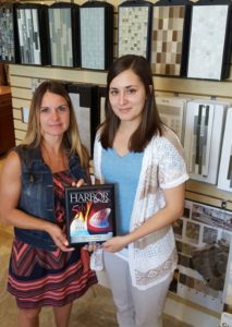 Cheryl and Jessica posing with SandStar Interior's 2016 'Harbor's Hottest' Finalist Award