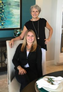 Cheryl and Olena at the Arthur Rutenberg model the Turnberry II