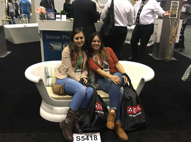 Jessica and Cheryl taking a breather at the 2017 Kitchen and Bath Industry Show