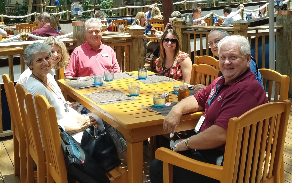 The SandStar team having lunch at the SEBC on July 27, 2017