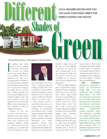 "Jim Sanders Featured in Harbor Style Magazine's ""Different Shades of Green"""