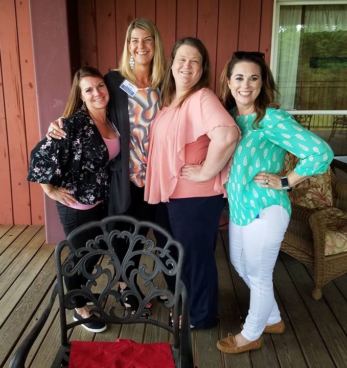 Cheryl, Abbey and Wellborn's Dawn and Krystal at the Aspire Training Class in Ashland, Alabama.