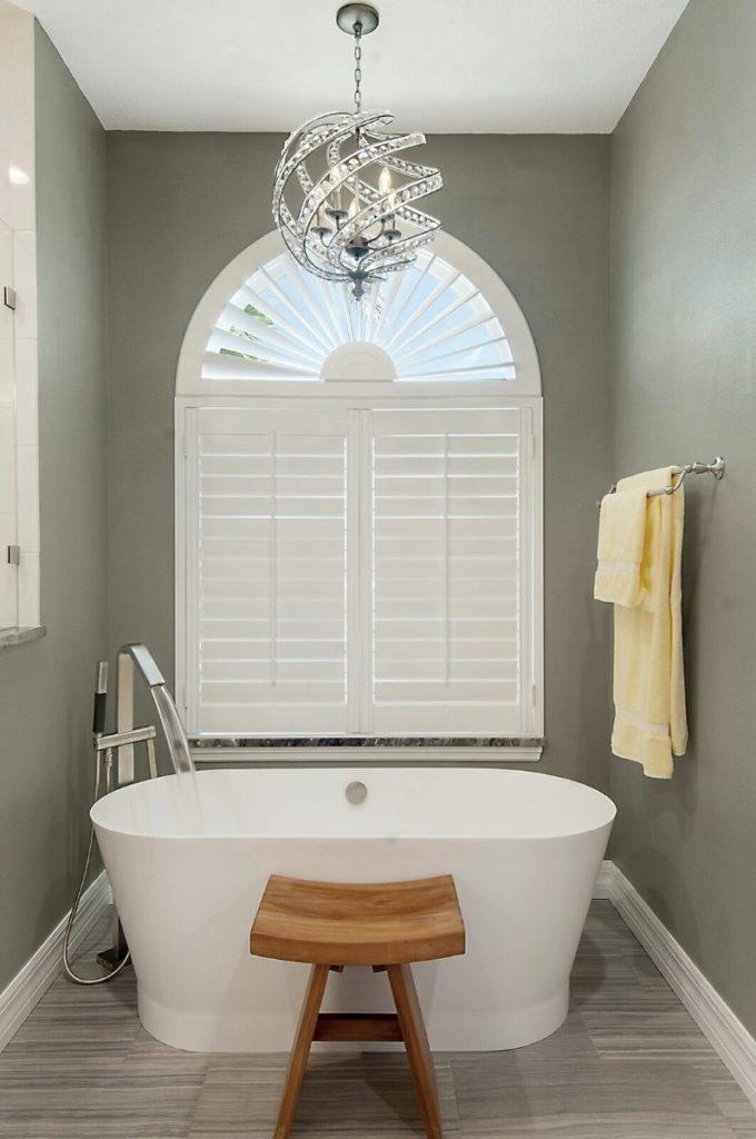 Elegant GrayWhite Bathroom Remodel Sandstar Remodeling - Bathroom remodel gray and white