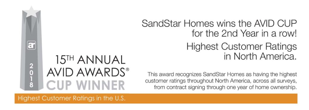 SandStar Homes Wins the Avid Cup for The Second Year in a Row!