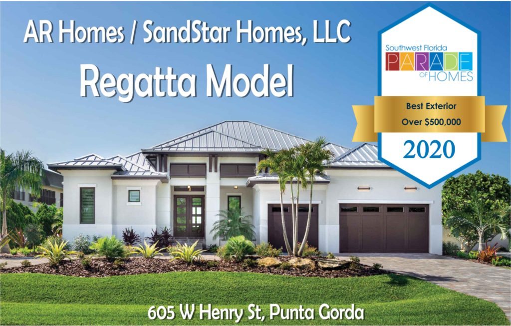 "AR Homes/SandStar Homes Wins ""Best Exterior"" in 2020 Parade of Homes!"