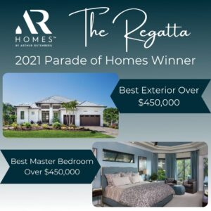 2021 Parade of Homes winner: Best Exterior and Best Master Bedroom over 450,000