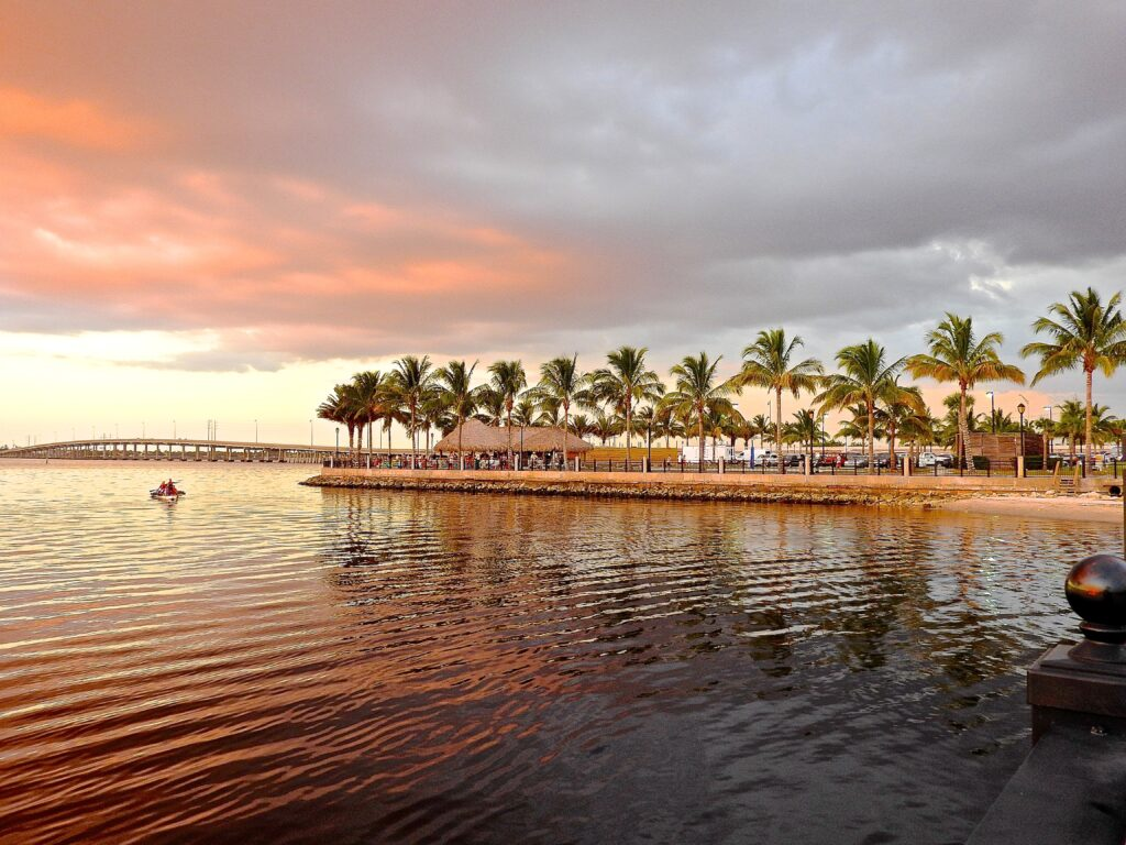SandStar remodeling is located in Southwest florida near the Charlotte Harbor, pictured at sunset.